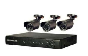 Buy CCTV security system kit with 3 full HD cameras at best price